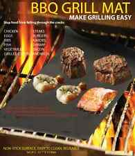 BBQ GRILL MAT - As Seen On TV! Make Grilling Easy! (2-x Mats Per Pack) USA Ship!