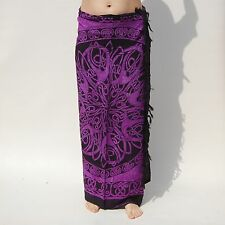 NEW UNISEX PURPLE & BLACK CELTIC DESIGN SARONG BEACH POOL WRAP PAREO BNIP /sa060