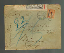 1915 Teposcolula Oaxaca Mexico Registered cover to MExico City
