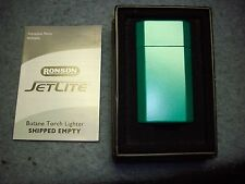 Ronson Jet Lite Green Butane Cigarette Lighter, new in box