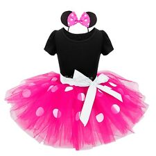Baby Girls Kids Minnie Mouse Birthday Party Tutu Dress Costume Outfits Clothes