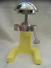 NEW Bright Yellow Manual Juicer Chrome Plated & Heavy Easy To Use Easy To Clean