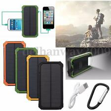 100000mAh Portable Waterproof Solar Power Bank Dual USB Charger For All Phones