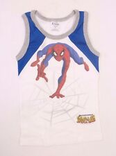 Marvel Comics The Spectacular Spider-Man Kids Boys White Tank For 6 Year Olds