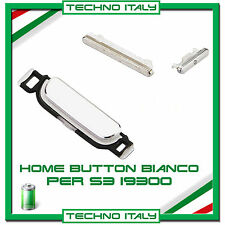 TASTO HOME + ACCENSIONE ON OFF + TASTO VOLUME PER SAMSUNG I9300 GALAXY S3 BIANCO