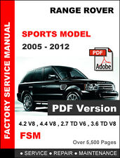 RANGE ROVER SPORT 2005 - 2012 FACTORY SERVICE REPAIR FSM MANUAL + WIRING DIAGRAM