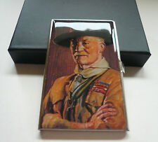 WORLD SCOUT FOUNDER - LORD BADEN POWELL (BP) OF GILWELL METAL NAMECARD HOLDER