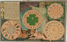 The Fortune Teller ~ Paper Cut Out Toy Postcard ~ Spin Arrow & Find Ideal Mate
