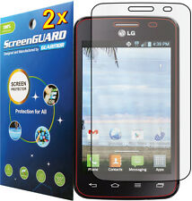 2x Clear LCD Screen Protector Cover Film for LG Optimus Dynamic II 2 LG39C L39C