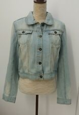 F&F Ladies Plus Size 16 Stonewash Blue Denim Jacket Winter Fashion Wear