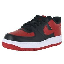 Nike Air Force 1 (GS) 596728-016 Black Red Kids US size 7, CM 25