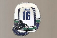 "Vancouver Canucks  ""Trevor Linden #16, White Jersey""  NHL Hockey pin"
