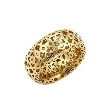 Tiffany & Co. Picasso Marrakesh 18k Gold Fancy Open Design Band Ring -Size 8
