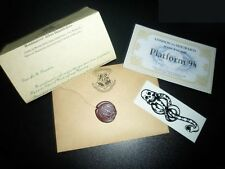 Harry Potter Standard Acceptance Letter London To Hogwarts Tickets (Free Tattoo)