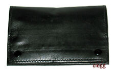 Castleford Black Real Leather 4 Pocket Medium Pipe Tobacco RYO Pouch Bag