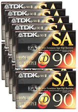 10 x TDK SA 90 Audio Cassette Tape Super Avilyn High Resolution SA90 BIAS IEC II