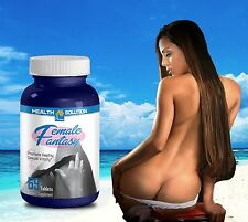 Sexual Improvement FEMALE FANTASY Sexual Vitality Horny Goat Weed Maca(1 Bot)