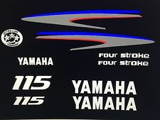 Yamaha Outboard Motor Decal Kit 115 HP 4 Stroke Kit