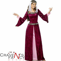 Deluxe Adult Maid Marion Costume Fancy Dress Ladies Womens Robin Hood Outfit New