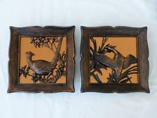 """LNC - Lot of 2 - Coppercraft Guild """"PHEASANT"""" & """"DUCK"""" Copper Hanging Wall Art"""
