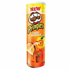 Pringles SWEET PAPRIKA Potato Chips - 195g - Made in Blegium