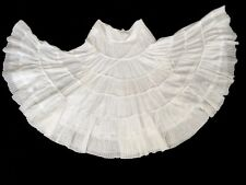 bebe White Layered Gauze Boho Peasant Hippy Full Skirt Women's Size S NICE!