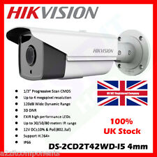 4MP HIKVISION 4MM 1080P DS-2CD2T42WD-I5 ONVIF 120DB WDR 50M IR POE BULLET IP CAM