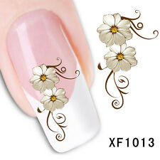 Nail Art Water Transfers Decals Sticker Flower Pattern Nail Decoration  fd