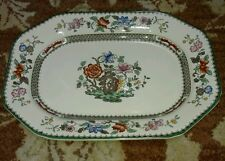 "Spode CHINESE ROSE 12 1/2"" Oval Serving Platter  Very CLEAN"