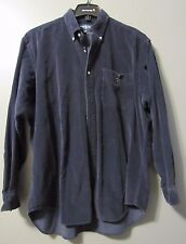 "POLO RALPH LAUREN MEN'S ""BLAIRE"" L/S CORDUROY TEDDY BEAR SHIRT BLACK L VGUC"