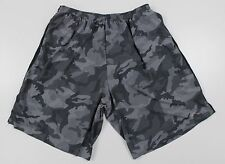 "NEW Nike Running Dri-Fit 9"" Camo Lined Athletic Shorts MENS XL Gray Polyester"