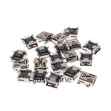 20 Stück Mini USB SMD 5 Pin Anschlussbuchse Steckverbinder Stecker Neu Hot