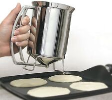 Pancake Batter Dispenser Stainless Steel Perfect Cupcakes Waffles Breakfast NEW