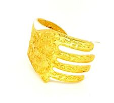 Kenneth Jay Lane KJL 22kt Gold-Plated White Enamel Hamsa Hand Cuff Bracelet