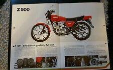 Prospekt Sales Brochure Kawasaki Z 500 KH 125 Bike Mokick Moped   автомобиль