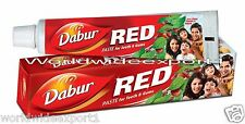 DABUR Red Herbal ToothPaste 200gm (FREE BRUSH) USA SELLER
