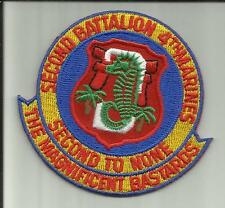 TWO  2nd BATTALION 4th MARINES USMC MILITARY PATCHES CAMP PENDLETON INFANTRYMAN