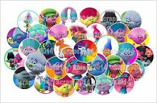 "Trolls Movie-1"" pre-cut round bottle cap  images (40pcs)"