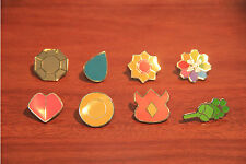 Pokemon Cartoon Anime Kanto All 8 Gym Badges from Generation Gen 1 | Cosplay
