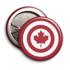 Captain Canada - Button Badge - 25mm 1 inch Humour / Parody Style