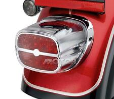 Chrome/Red Motorcycle LED Tail Brake Light for Harley Touring Street Road Glide