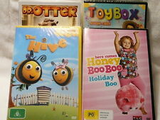 "CHILDERENS 4 PACK, THE HIVE, TOYBOX, HONEY BOO, DR OTTER, R4 ""NEW"" AUZ SELLER P2"