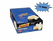 PowerBar Protein Plus Bars Vanilla 20g Protein 2.12-Ounce Bars (Pack of 15)