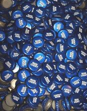 "100 ""New Style"" Bud Light (no Dent) blue beer bottle cap lot"