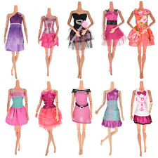 Random Pick 10 Pieces Dresses Clothes Gown For Barbie Dolls Girls New Nice