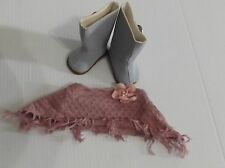 AMERICAN GIRL DOLL BOOTS AND SHAWL FROM THE SIGHT SEEING OUTFIT