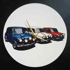 "1969 Italian Job Mini Coopers 12"" LP Vinyl Record Clock, pop art canvas, 60s mod"