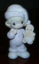 WISHING YOU THE SWEETEST CHRISTMAS Girl & Gingerbread Precious Moments 530166