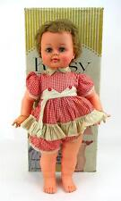Vintage 1960s IDEAL KISSY Doll Tagged Red White Romper Missing Eyelashes W/ Box