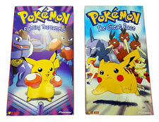Pokemon - The Great Race ( Vol. 11 ) & Fighting Tournament ( Vol. 10 ) VHS Tapes